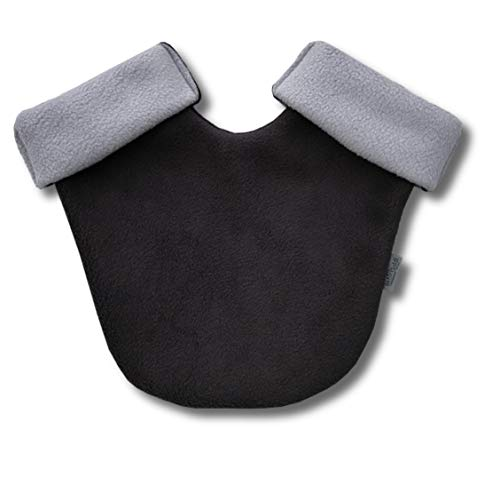 Partnerhandschuh aus Doppelfleece - in Deutschland hergestellt - Anthrazit/Grau