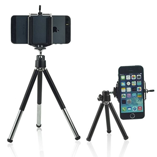 mini 360 rotatable tripod stand with phone clip