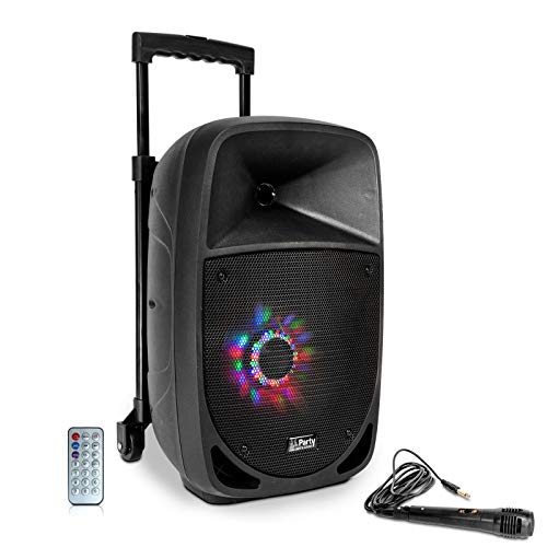 "Party 8LED - Altavoz Portatil a Baterias, 8"", 150W-RMS, USB/BT/FM/MICRO"