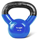 Yes4All Vinyl Coated Kettlebell Weights Set...