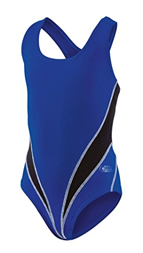 Beco Mädchen Competition Badeanzug, blau/Schwarz, 176