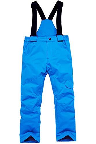 Mädchen Jungen Winter Warm Outdoor Mountain Wasserdicht Winddicht Snowboarden Ski Jacke Schnee Ski Latzhose Overall Set - Blau - Höhe:110/120 cm(S)