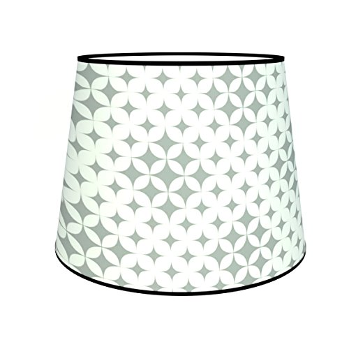 Abat-jours 7111307309727 Conique Kim Lampadaire, Tissus/PVC, Multicolore