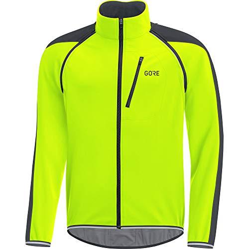 GORE Wear C3 Herren Zip-Off Jacke GORE WINDSTOPPER, L, Neon-Gelb/Schwarz