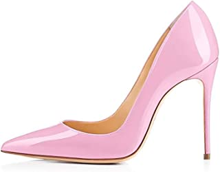 GENSHUO High Heel, 10cm/3.94 Inch Stiletto High Heel Shoes for Women Pointed Toe Party Evening Dress Pumps Prom