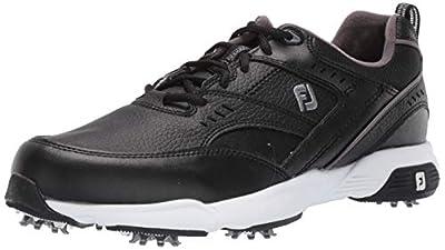 FootJoy Men's Sneaker Golf Shoes, Black, 9 W US