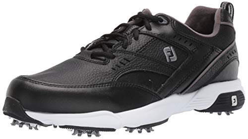 FootJoy Men's Sneaker Golf Shoes, Black, 7 M US