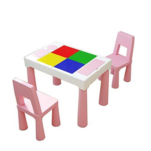 Ensembles de tables et chaises Table et chaise pour enfants Ensemble de table de jouet multi-fonctionnelle Table et chaise pour enfant Maternelle Table de jeu pour bébé Table et chaises en plastique p