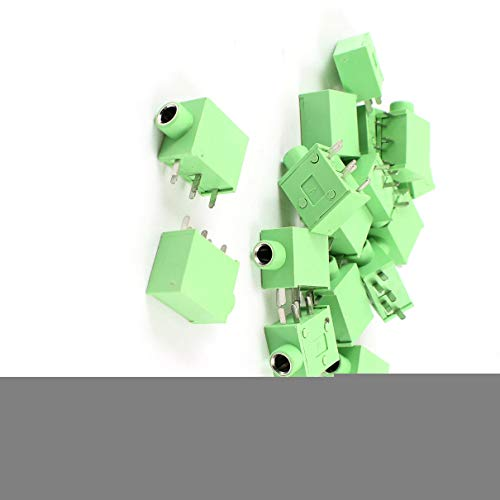 Aexit PCB Mount Audio & Video Accessories 5 Pin 3.5mm Stereo Jack Socket Female Connector Green Connectors & Adapters 15 Pcs