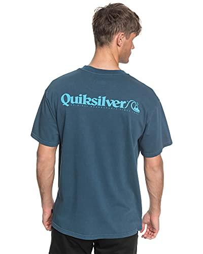 Quiksilver - Camiseta con Bolsillo - Hombre - S - Azul