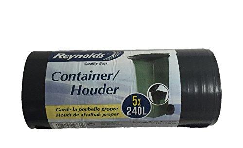 Reynolds Container Set de 5 Sacs Poubelles 240 L