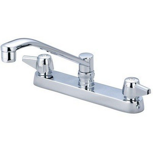 Central Brass 0122-A Two Handle Cast Brass Kitchen Faucet in Chrome