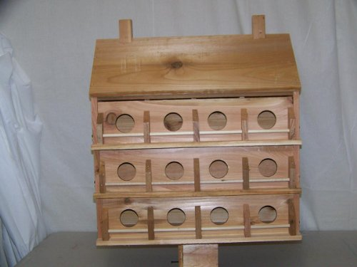 Purple Martin Deluxe Birdhouse with 24 Seperate Compartments