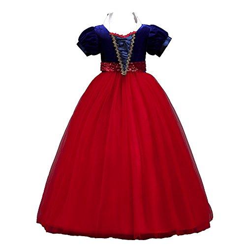 Mbby Vestiti Carnevale Bambine,6-16 Anni Vestito da Cerimonia per Bambina Abiti Principessa Manica Corte Tulle Abito Tutu per Ragazza