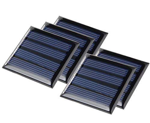 ZHITING 0.25w 5v Mini piccolo modulo pannello solare , Caricabatterie solare a celle epossidiche in polisilicio fai-da-te per caricatore di giocattoli (5 pezzi)