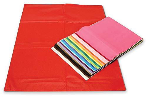 Darice 100-Piece Premium Quality Tissue Gift Wrapping Paper Crafts, Packing and More, 20 x 26 inches (100 Sheets), Assorted Colors