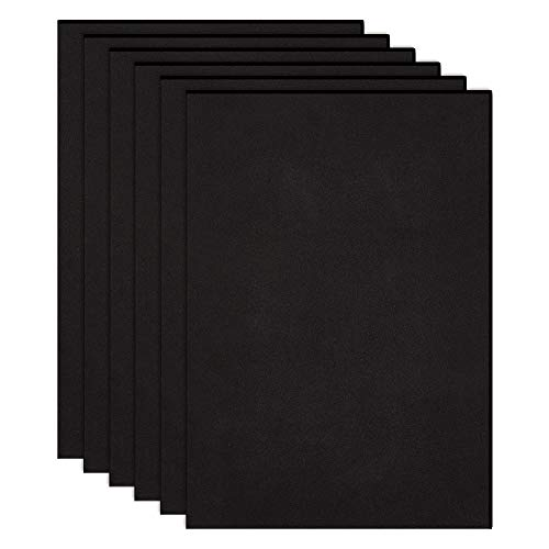 BENECREAT 10 Pezzi Fogli Adesivo Nero Foglio di Schiuma Eva A4 (30x21cm) Spessore 0,2cm Cuttable Pad Adesivo Antiscivolo per Mobili e Artigianato