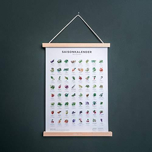 Saisonkalender für Obst & Gemüse in Farbe, (Format A3, Poster, Plakat, Kalender)