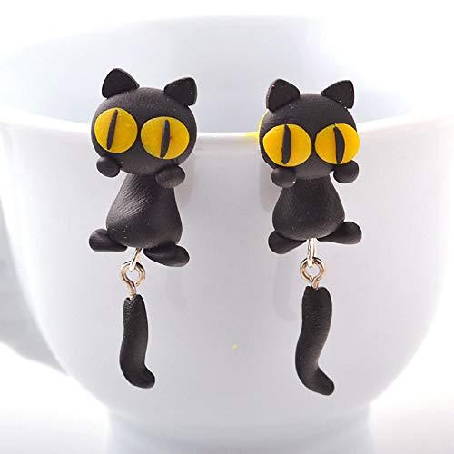 letaowl Ohrring Handgemachte Cartoon 3D Tier Ohrringe süße Katze Ohrstecker Ohrstecker für Frauen Schmuck 2