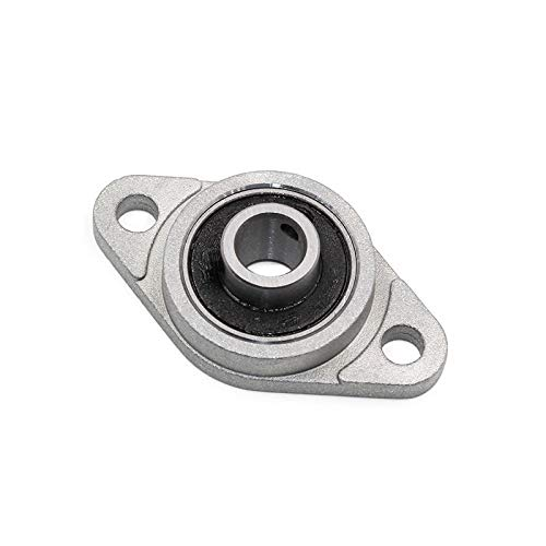 XBaofu 2pcs KFL08 FL08 Brida de Apoyo con Soporte de Eje de 8 mm Calibre de aleación de Zinc Almohada Bloque de cojinete for el CNC for 3D Plomo Impresora Tornillo