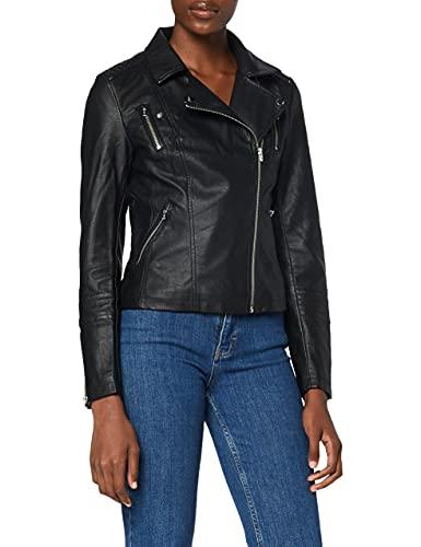 Only ONLGEMMA Faux Leather Biker Otw Noos Giacca, Nero (Black Black), 38 Donna
