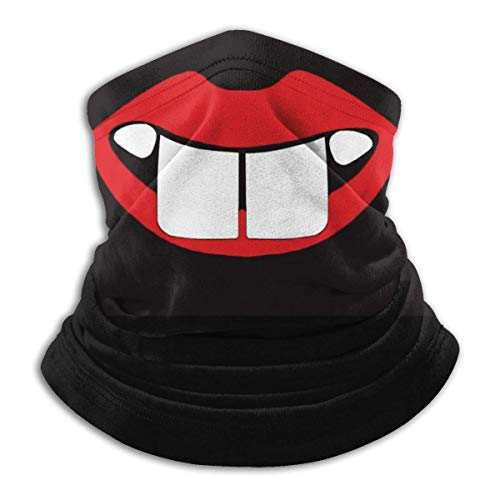 ShiHaiYunBai Tour de Cou Cagoule Microfibre Chapeaux Tube Masque Visage, Fleece Neck Warmer,Funny Big Teeth Reversible Ear Headband Mask Ultimate Thermal Retention Versatility,for Man