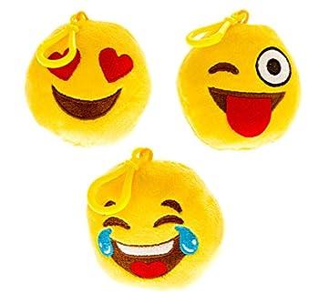 Kid s Talking Emoji Universe Backpack Clips  Plush Oversized Keychains Make Funny Sounds