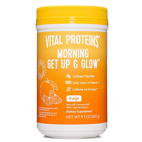 Vital Proteins Morning Get Up and Glow Collagen Peptides Powder Supplement, 90mg of Caffeine for Energy Plus Vitamin C, Biotin and Hyaluronic Acid -...