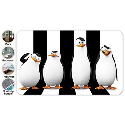 QIANER The-Penguins of Madagascar – Alfombrilla de baño con diseño de pingüinos de Madagascar, de…