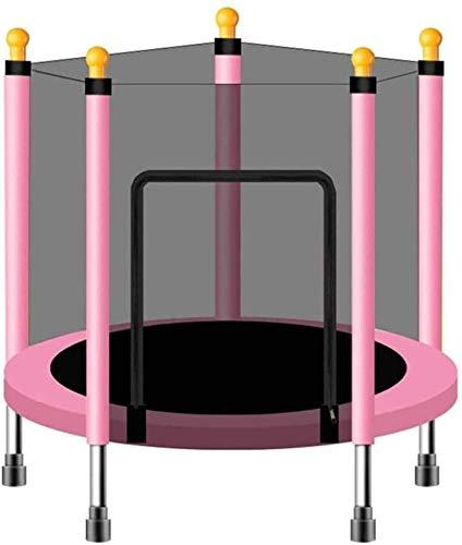 BRFDC Trampolin Fitness Mini trampolín con recinto Neto de Salto Mat y la Cubierta del Resorte Relleno Juguete de la educación del bebé Juguetes Juegos de Niños (Color : Pink)