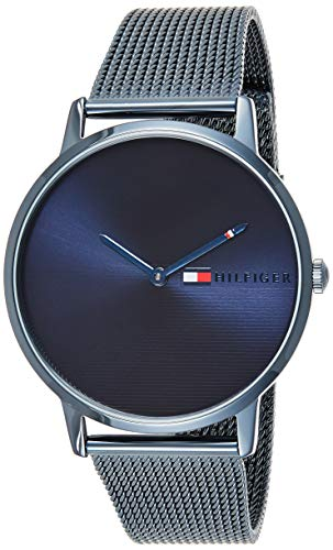 Tommy Hilfiger Women's Quartz Watch with Stainless Steel Strap, Blue, 20 (Model: 1781971)