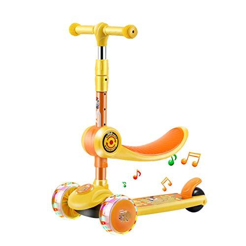 Pepional Kids 3 Wheel Kick Scooter, Mit LED-Leuchträdern, Faltbarem Design, Dreirädrigem Roller Für Kinder Im...