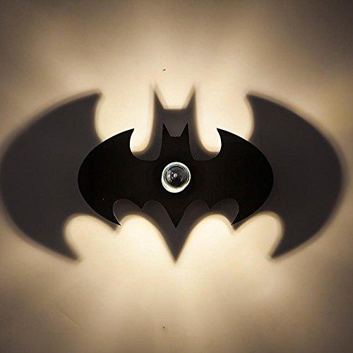 Modern Kreativ Wand Lampe Projektion Schatten Effekt Batman Acryl Geschnitzt Wandleuchte Schlafzimmer Korridor Licht LED Schatten Einfache Persönlichkeit Helle Cartoon Kinder Zimmer Nachttischlampe