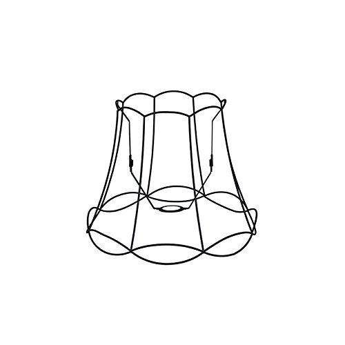 QAZQA Retro Metalen lampenkap zwart 40/31 - Granny Frame, Rond schuin hang kap,staande kap
