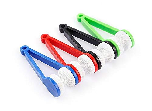 FTVOGUE Cepillo limpiador de cristales de microfibra para gafas (rojo)