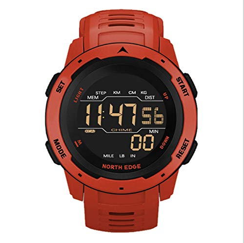 ZHAG Reloj Inteligente al Aire Libre Multifuncional Reloj Inteligente Deporte Digital Impermeable Reloj de Pulsera 50m calorías pedómetro montañismo Relojes Militares Hombres Nadando Reloj,Red
