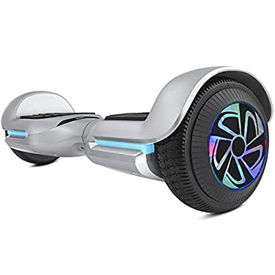 """Spadger Hoverboard Self Balancing Scooter 6.5"""" Two-Wheel Self Balancing Hoverboard SS-1Jr with BLE Speaker and LED Lights APP Enabled Electric Scooter for Adult Kids - UL 2272 Certified"""