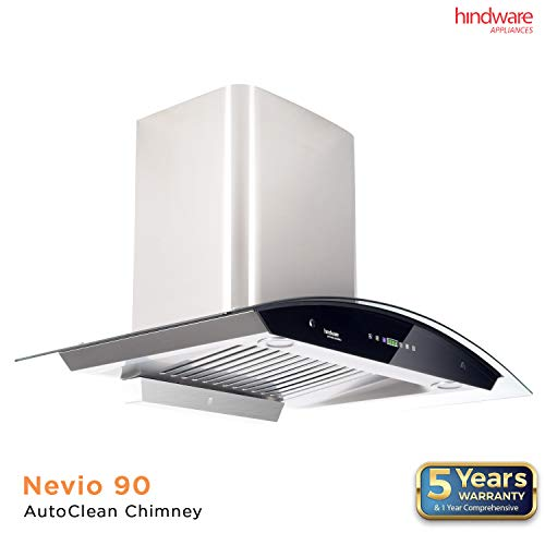 Hindware 90cm 1200 m3/hr Auto Clean Chimney (Nevio...
