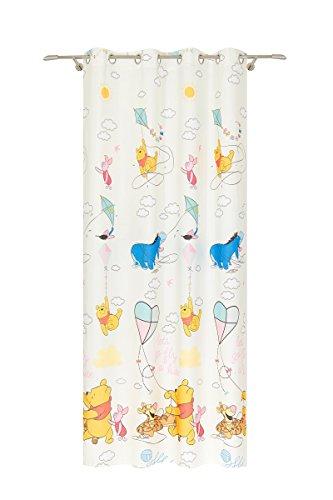 Disney Pu der Bär Ösenschal, Polyester, Beige, 140 x 245 cm