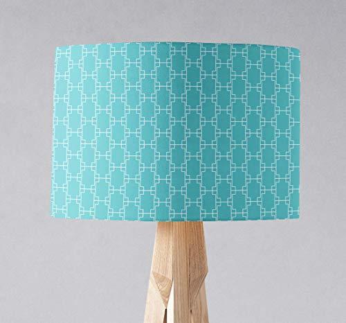 Türkis geometrischer Lampenschirm