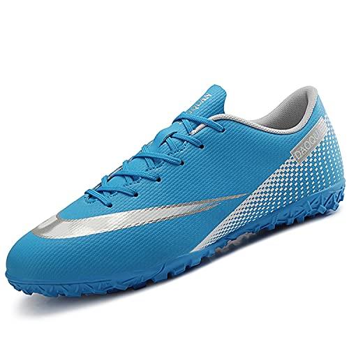 VTASQ Zapatos de fútbol para niños Entrenamiento al Aire Libre Zapatos de fútbol Ligeros Resistentes al Desgaste para Adolescentes Zapatos de fútbol de Verano Primavera para niños Azul 39 EU
