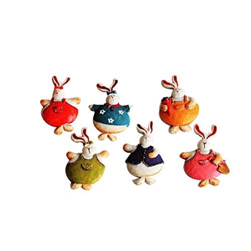 ABOOFAN 6 unids creativo de dibujos animados coreano conejo pizarra decorativa nevera recuerdo decoración del hogar imanes nevera