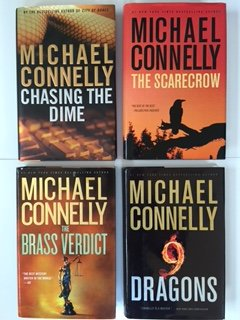 Michael Connelly (Set of 4) Chasing the Dime; Scarecrow; Brass Verdict; 9 Dragons