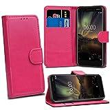 Nokia 6 2018 6.1 Cases - Pink Premium Wallet Leather Flip