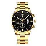 Neu Armbanduhr FGHYH Männer CUENA Men Fashion Military Stainless Steel Analog Date Sport Quartz...