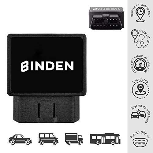 BINDEN Rastreador GPS TK816 OBDII para Auto o Camioneta con Batería de Respaldo, Alarma de Vibración,…