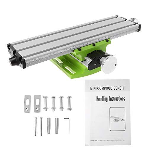 Mini Fräsmaschine Arbeitstisch Schraubstock Tragbare Verbundbank X-Y 2 Achsen Einstellbare Kreuzschlitten Tisch für Tischbohrmaschine 12,2 zoll-3,54