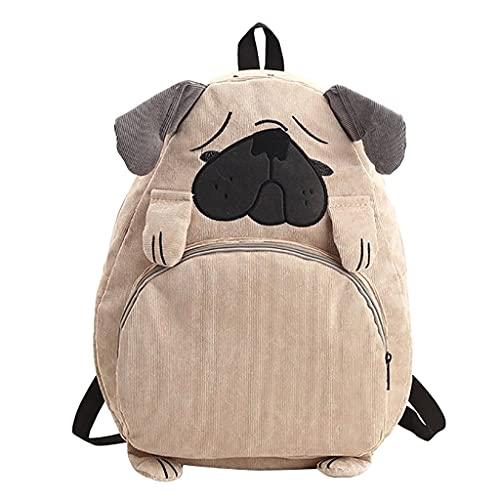 YIXIN Zaini per ragazze adolescenti carino animale borsa di tela tela borsa studenti borsa ricamo zaino viaggio