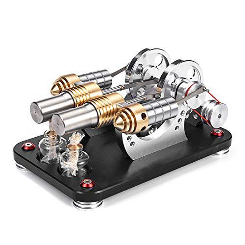 Haunen Stirlingmotor Sterling Engine Stirling Motor Handwärme Stirling Pädagogisches Spielzeug Geburtstagsgeschenk Kinder und Technikbegeisterte