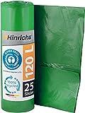 Hinrichs 25 Bolsas Basura 120 Litros Resistentes - Bolsas Basura Verde Rollo de...